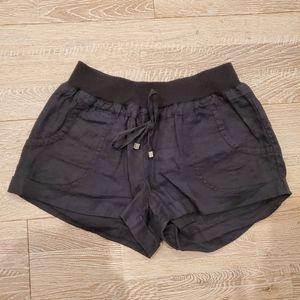 Love Tree black linen shorts
